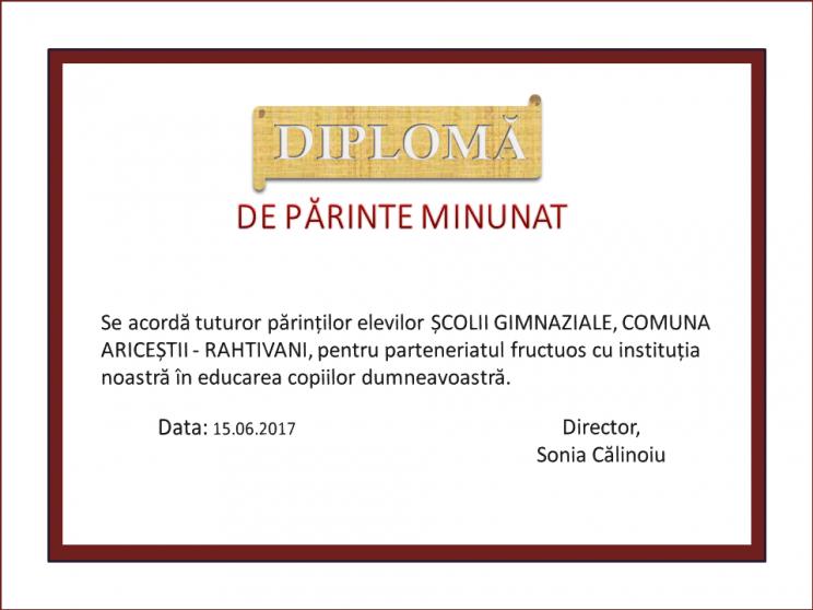 diploma parinti